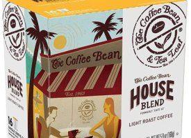 Coffee Bean and Tea Leaf House Blend Light Roast K Cups 16ct