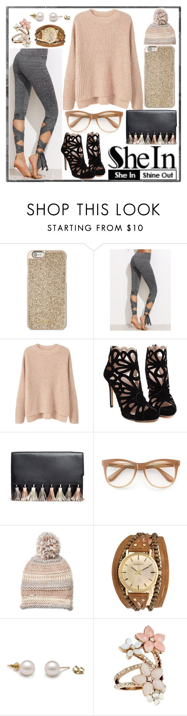 """""""Copped tie knit leggings"""" by covergirlchic ❤ liked on Polyvore featuring Michael Kors, MANGO, Rebecca Minkoff, Wildfox, Steve Madden, Kahuna and Accessorize"""