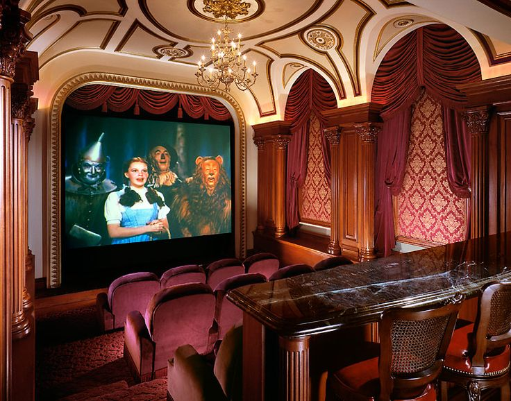 This Home Theater Room Reminds One Of A Bygone Era With