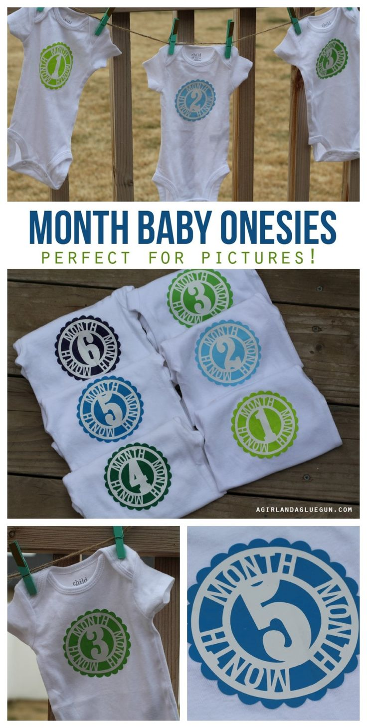 Month by month baby onesie with heat transfer (a Silhouette project)