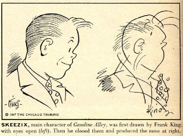 Cuando los artistas del cómic dibujan a sus personajes con los ojos vendados
