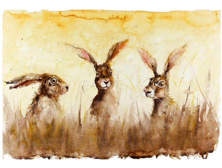 The Sun Hares by EstherWillsher on Etsy