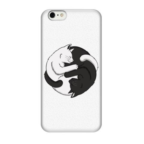 Чехол для iPhone 6 Черный и белый кот инь-ян - купить в интернет-магазине Printdirect.ru