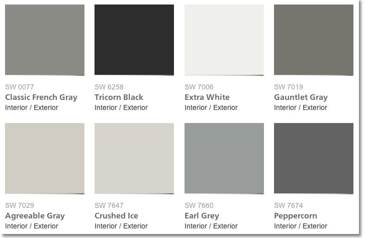 pin by katie moser on paint colors in 2019 sherwin williams gray white exterior paint. Black Bedroom Furniture Sets. Home Design Ideas