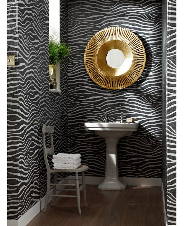 A stunning zebra print wallpaper, features a raised glitter gel effect. Ideal for bedrooms and lounges