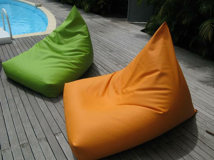 Beanbags made with Stamskin by Serge Ferrari.