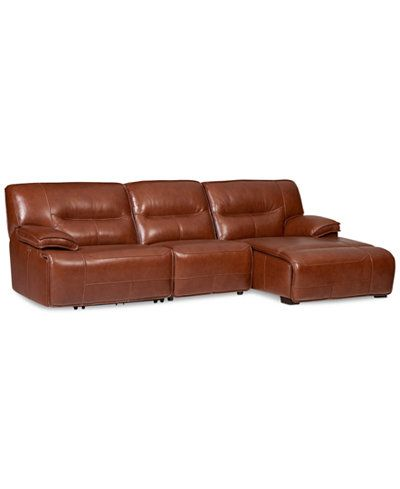 Recliner Sofa Beckett pc Leather Sectional Sofa with Chaise u Power Recliner