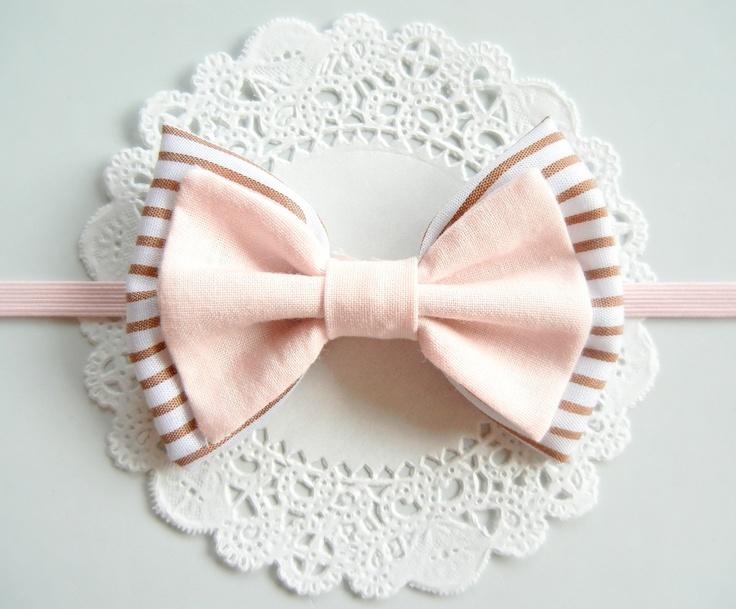 Double layer Baby Fabric Bow Headband