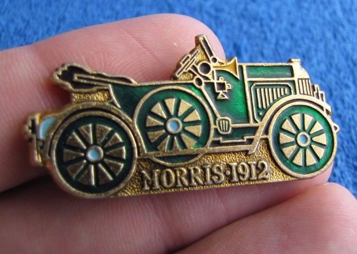 vtg Soviet Russia USSR badge pin auto car Morris 1912 history automobile
