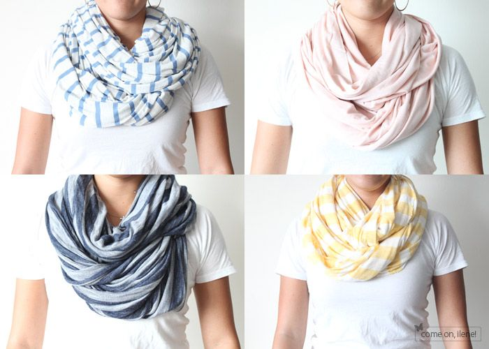 how to make infinity scarves.