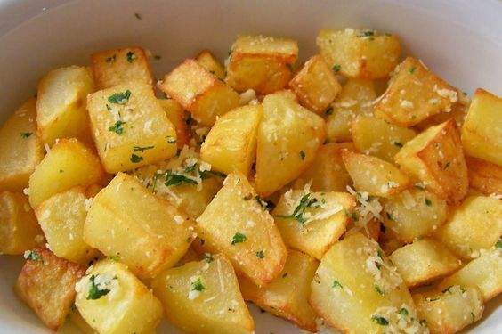 Receita de Batatas souté.
