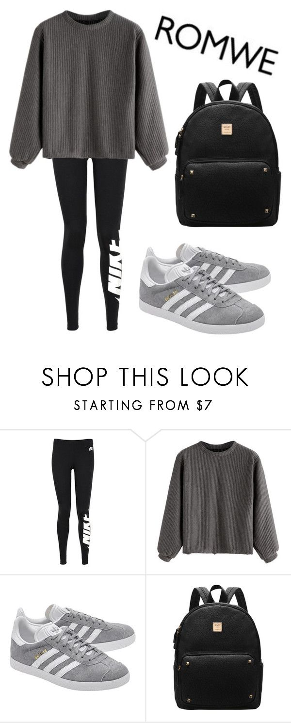 """Mall Day"" by melanielexon ❤ liked on Polyvore featuring NIKE and adidas Originals"