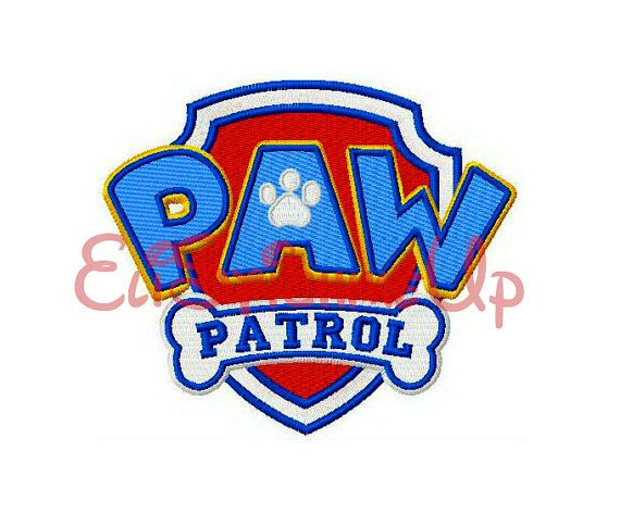 Paw Patrol Logo Insignia Embroidery Design 3 sizes-Instant Download