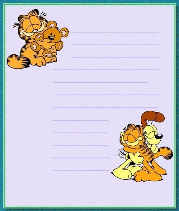 Ou do Garfield. | 35 papéis de carta que farão meninas dos anos 80 e 90 voltarem à infância