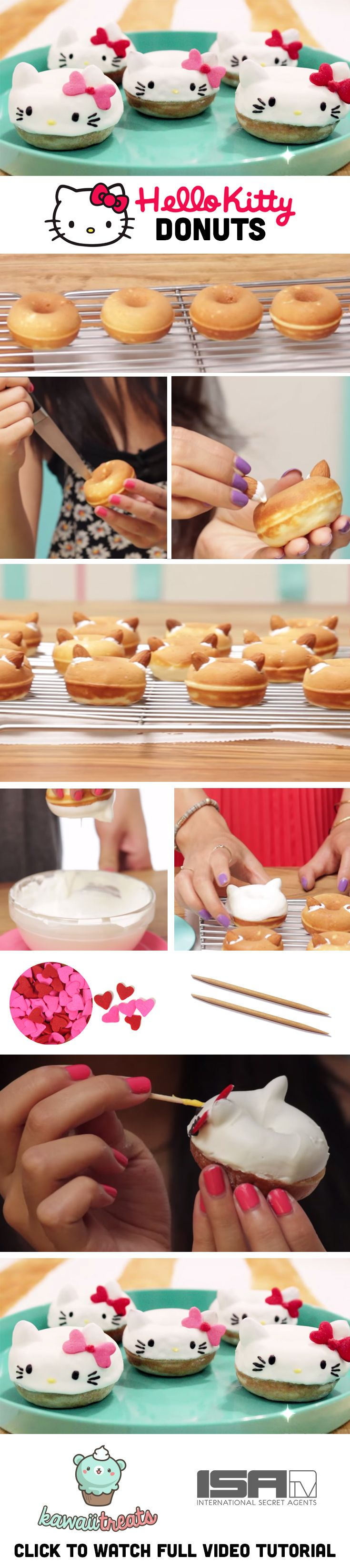 Hello Kitty Donuts! So cute! Sanrio snacks :)