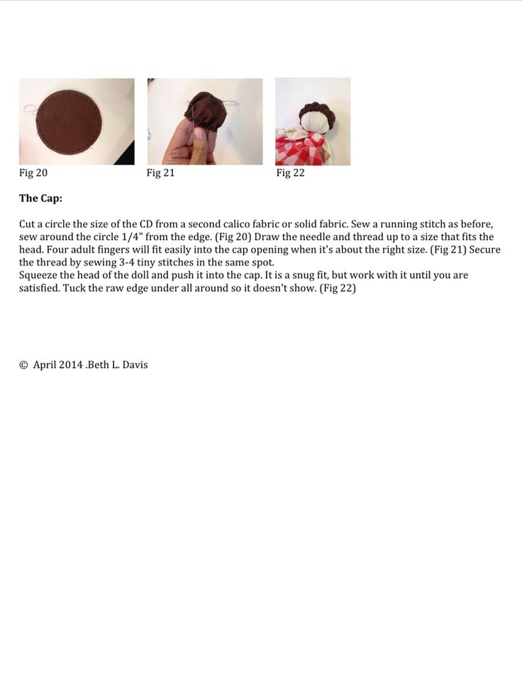 Knot Doll Detailed instructions page 5 of 5