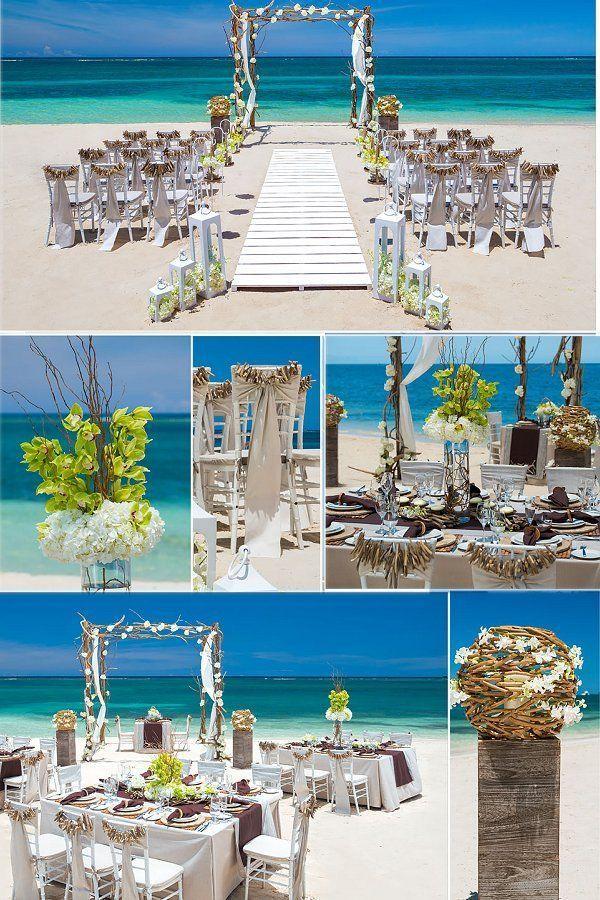Tropical Destination Beach Wedding Ceremony Reception Sandals Resorts Caribbean Breez Wedding Beach Ceremony Beach Destination Wedding Wedding Venues Beach