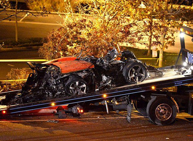 Paul Walker death car crash wreckage | ... Updates in Aftermath of Paul Walker's Fatal Crash | omg! - Yahoo omg
