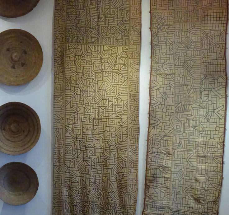 Kuba cloths from DRC at Kim Sacks Gallery in Johannesburg