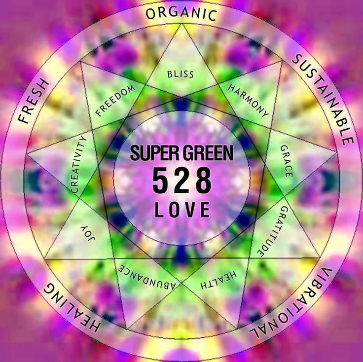 When putting frequency 528 Hz into music it has the tendency to raise vibration and assist in healing