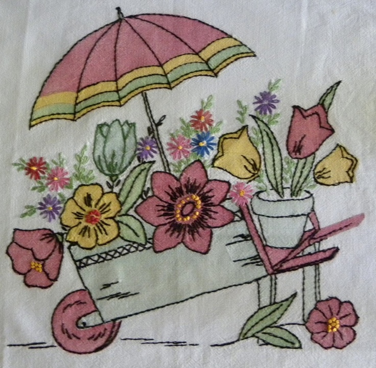 Images about vintage embroidered linens on pinterest