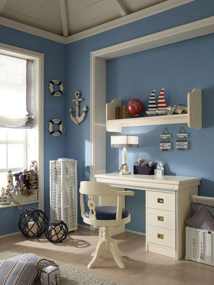 Kinderzimmer gestalten maritime Deko und Möbel von