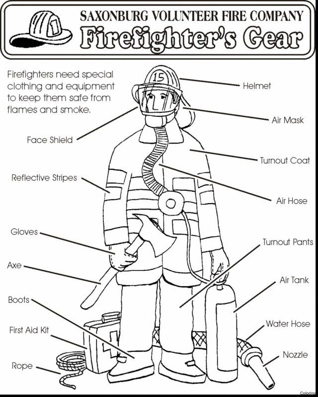 23 Great Picture Of Firefighter Coloring Pages Fire Prevention