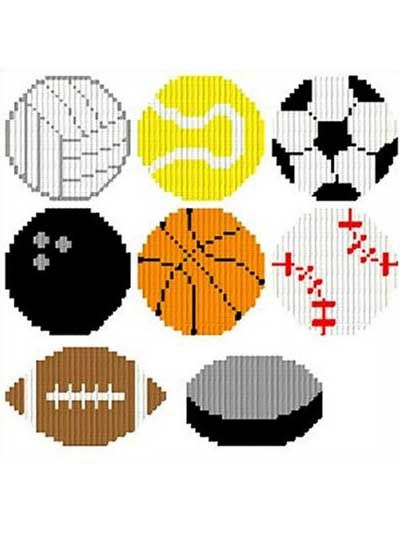 Sports Ball Magnets Plastic Canvas Pattern Download from e-PatternsCentral.com -- Dress up your refrigerator with these adorable magnets. They would be a great addition for any sports lover.