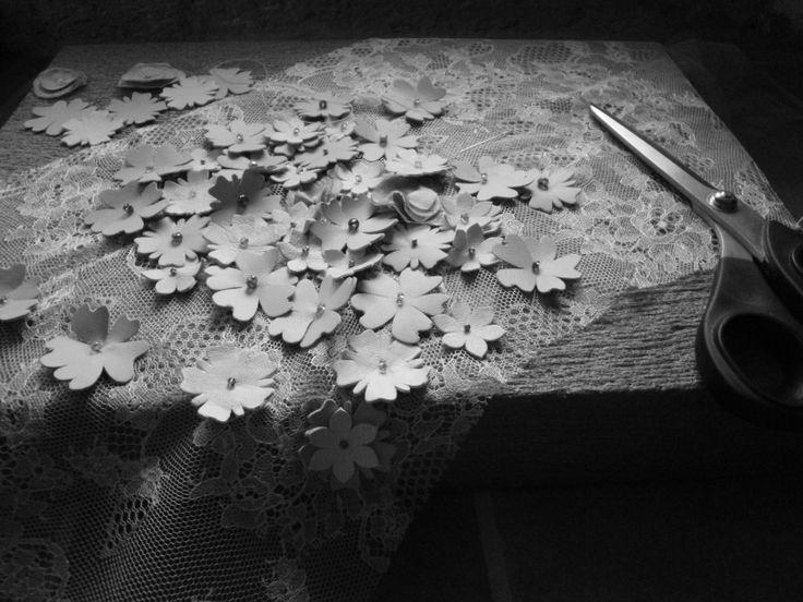Flower lace dress. Haute Couture by Alena Slamjakova