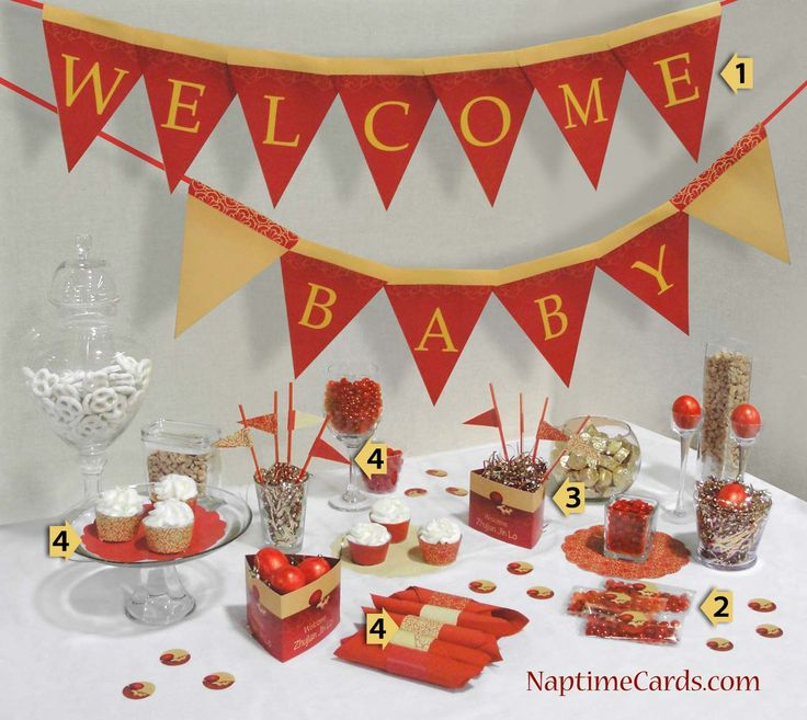18 best images about red egg ginger party on pinterest for Baby full month decoration ideas