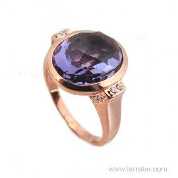 Sortija de Plata Color Amatista de la joyería Larrabe.  #Sortija #anillo #joyas #joyería #moda #mujer #fashion