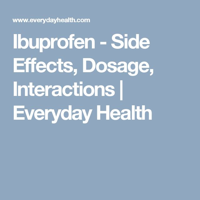 Ibuprofen Side Effects Heart