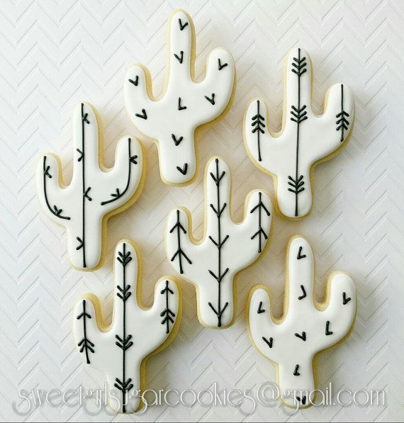 Cactus sugar cookies12 by SweetGirlSugarCookie on Etsy