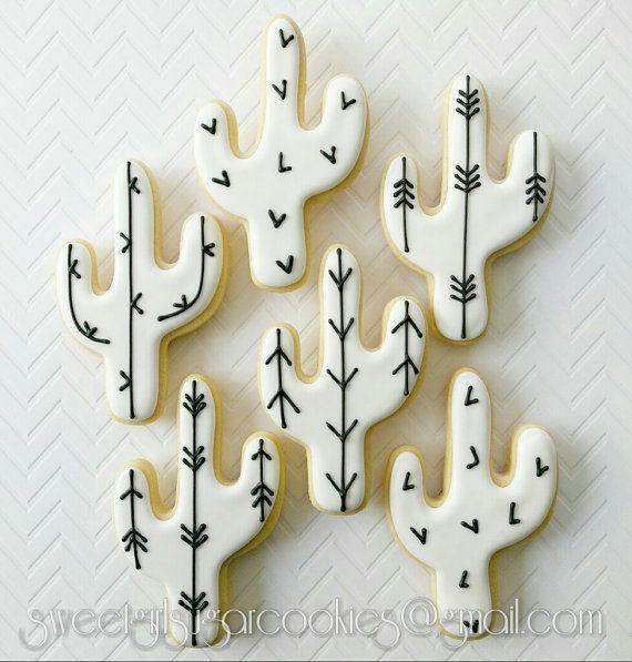 Cactus sugar cookies12 by SweetGirlSugarCookie on Etsy