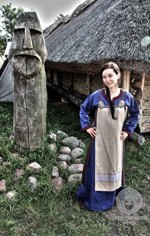ON STOCK Scandinavian Apron DressSIZE S L by SlavMedievalShop
