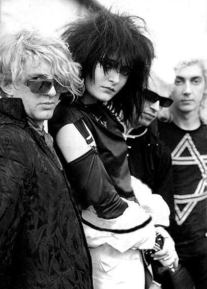 Siouxsie & The Banshees, 1981.  John McGeoch, Siouxsie Sioux, Steve Severin, Budgie