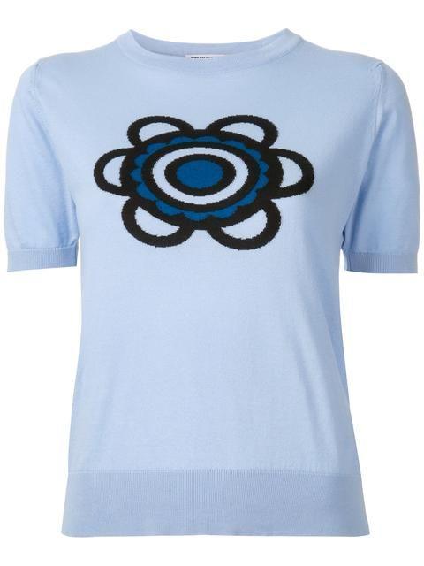 HOLLY FULTON Flora Knitted T-Shirt. #hollyfulton #cloth #t-shirt