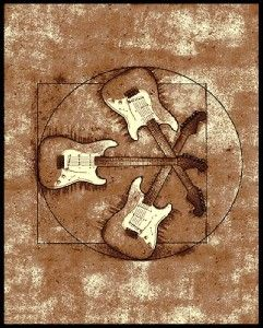 5 X 8 Modern Guitar Rock And Roll Music Theme Area Rug