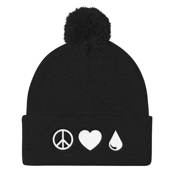 Peace Love Oils Pom Pom Knit Cap $20,00 many colors to choose from #beanie #oilbeanie #essentialoilstyle