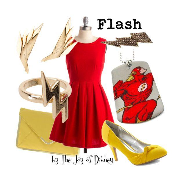 """Flash (DC Comics)"" by thejoyofdisney on Polyvore"