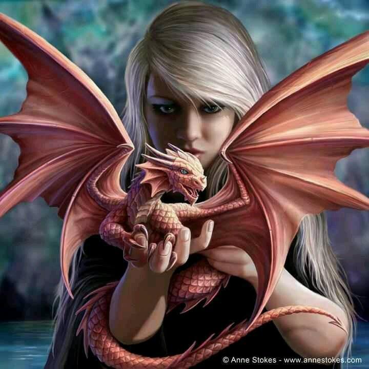 Anne Stokes Dragon Girl Fantasy Art