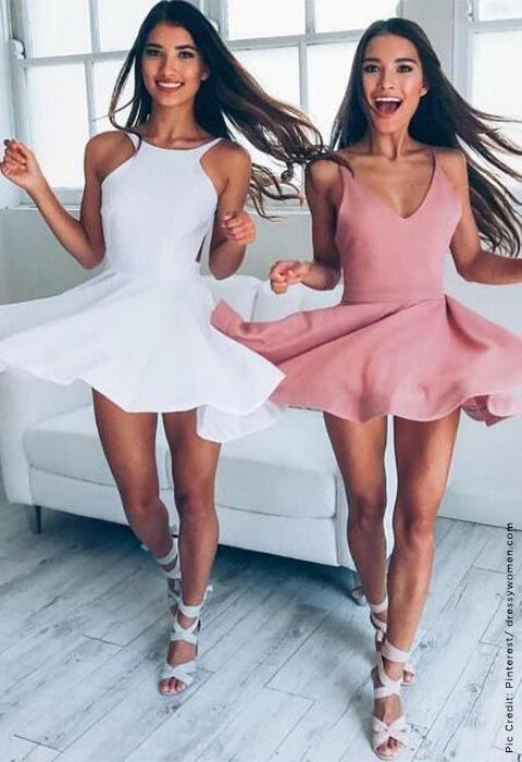 cute short party dresses, above-knee prom party dresses, cheap prom dresses 2017