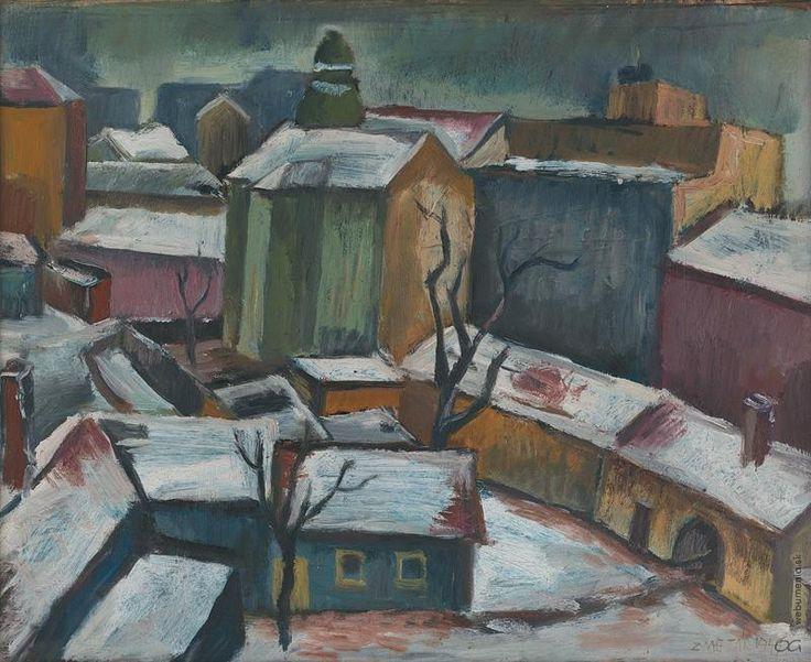 Ernest Zmeták: Pohľad z umelcovho atelieru:1945