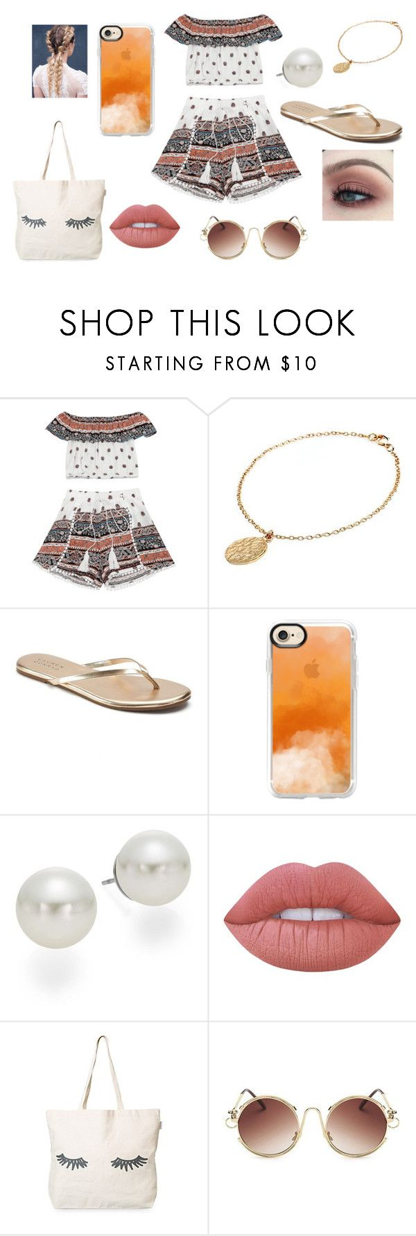 """""""Tuesday #2"""" by andrearbles on Polyvore featuring CINDERELA B, LC Lauren Conrad, Casetify, AK Anne Klein and Lime Crime"""