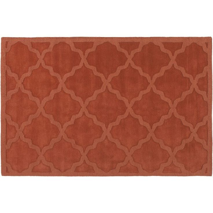 Surya Central Park Abbey Trellis Rug, Orange
