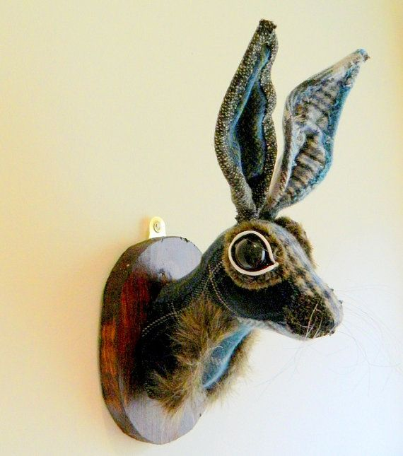 Mr Hogan Hare Animal Head Fauxidermy Faux Trophy by wondrousplace