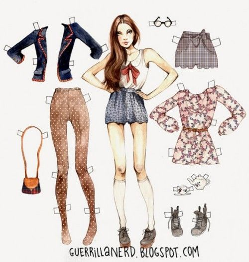 paper doll.....  Loved these when I was growing up....  So retro.