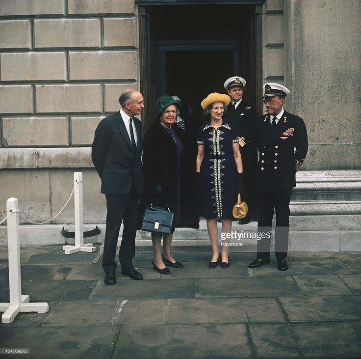 Queen Juliana of the Netherlands (1909-2004), with Lord Alec Douglas-Home…