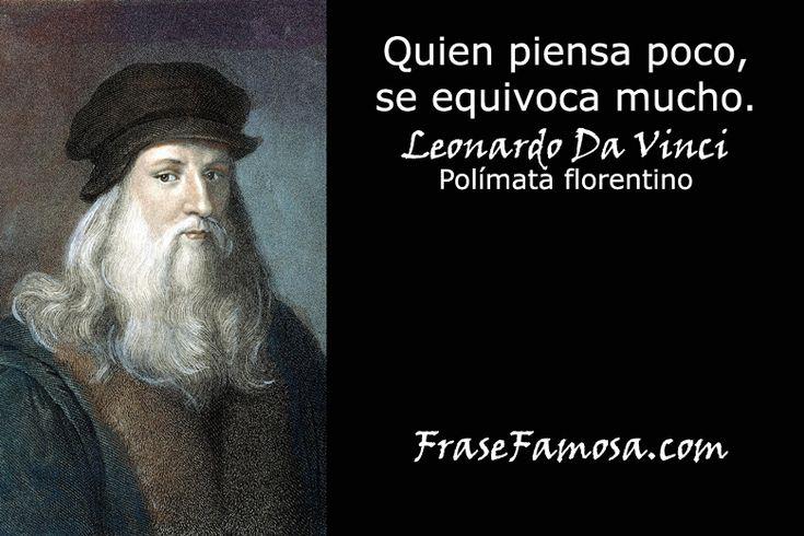 Frases de Leonardo Da Vinci - Frases de Pensamiento - Frase Famosa