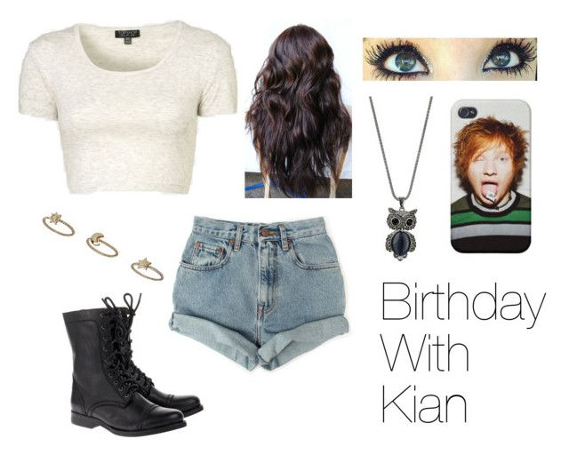 """""""Kian Lawley Imagine"""" by spoonhatincats ❤ liked on Polyvore featuring Topshop, Levi's, Jeffrey Campbell and Wallis"""